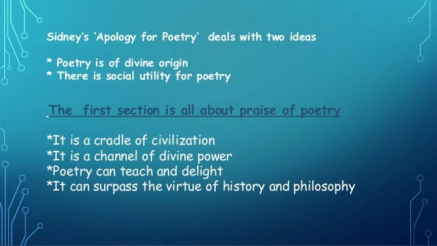 summary of an apology for poetry